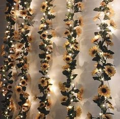 Tapestry Girls Sunflower LED String Lights are designed by Tapestry Girls and best used on walls or against wall hanging tapestries. Get your Sunflower LED String Lights today! Yellow Room Decor, Cute Room Decor, Flower Room Decor, Bedroom Flowers, Sunflower Room, Sunflower Nursery, Sunflower Wall Decor, Sunflower Decorations, Butterfly Decorations