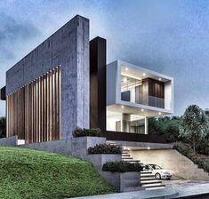 via heavywait - modern design architecture interior design home decor & Architecture Design, Residential Architecture, Amazing Architecture, Contemporary Architecture, Contemporary Design, Villa Design, Modern House Design, Modern Exterior, Exterior Design