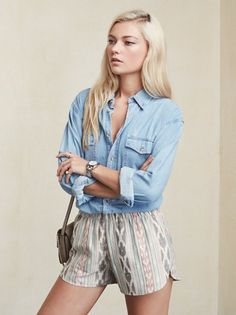 Literally roll out of bed and look cute. The Tristan Short is like sleepwear you can wear anywhere. This is a medium weight linen short that sits at the hip. High Cut, Going Out, Trousers, Style Inspiration, Web Images, Reformation, Shorts, Beach, Archive