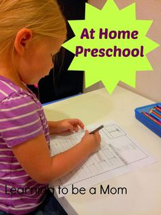 Learning To Be a Mom: How We Do Preschool At Home