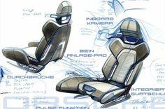 Car seat design drawing