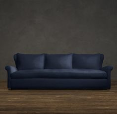 8' Belgian Wingback Upholstered Sofa comes in two depths, 42 and 46 inches