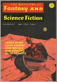 The Magazine of Fantasy and Science Fiction December 1970 Vol. 39, No. 6 (Whole No. 235)  Cover Art - Mel Hunter