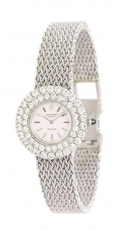 An 18 Karat White Gold and Diamond Wristwatch, Audemars Piguet for Bulgari