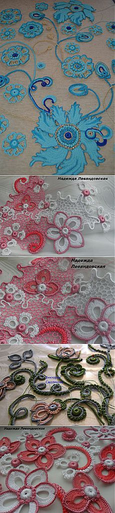 Ирландия. Фриформ.Идеи . Irish Crochet Tutorial, Irish Crochet Patterns, Crochet Motifs, Freeform Crochet, Crochet Art, Thread Crochet, Crochet Designs, Crochet Stitches, Crochet Leaves