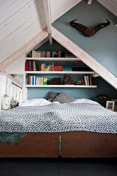 Gorgeous low attic bedroom