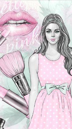 Makeup Wallpapers, Cute Wallpapers, Laptop Wallpaper, Love Wallpaper, Chanel Background, Whatsapp Background, Hello Kitty Wallpaper, Makeup Box, Paris Theme