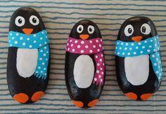 penguin painted rocks
