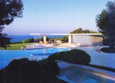 poolhouse at Villa Nara Mondadori by Oscar Niemeyer, Saint-Jean-Cap-Ferrat, 1968