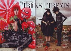 Tim Burton's Tricks & Treats - Malgosia Bela, Evelina Mambetova, Sophie Srej in Harper's Bazaar October 2009