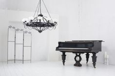 Photo about A light room with a piano, a folding screen and a chandelier. Image of decor, classical, music - 34053665 Grand Piano Room, Home Studio Music, Other Rooms, Photo Editing, Chandelier, Stock Photos, Music Rooms, Grand Pianos, Image