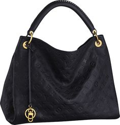 Louis Vuitton 'Artsy MM': As soon as I saw this bag I fell in love.  Every aspect of this bag is gorgeous, from the stitched handle to the gold hardware.  It comes in five colors (red, navy, black, brown, & white), but the navy is my personal favorite.  This bag is also a personal favorite of Angelina Jolie.  Sold at Louis Vuitton stores and on louisvuitton.com.