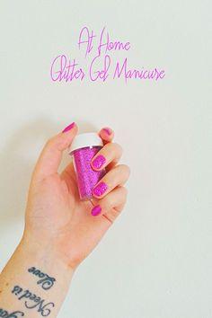 DIY glitter gel manicure!