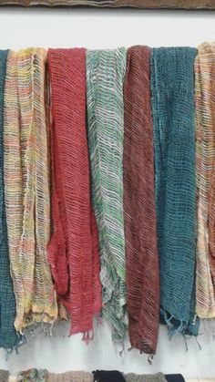 2015 Winter Ribbed Cotton Scarfs. Handmadecotton scarf made in Thailand.