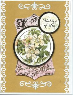 """floral """"Thinking of You"""""""