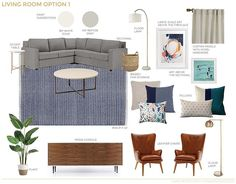 A Textured Traditional Mid Century Living Room   Emily Henderson   Bloglovin'
