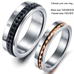 Titanium Matching Couple Ring Band Set for Him