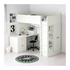 STUVA / FÖLJA Loft bed with 2 drawers/2 doors - IKEA