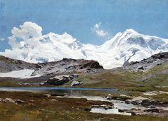 Edward Harrison Compton ( 1881 – 1960)  Monte Rosa and Lyskamm seen from…
