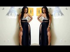 Sewing a double slit maxi skirt! I made my own pattern, however you can buy a pattern or trace the pattern of one of your old skirts. Diy Fashion, Fashion Beauty, Fashion Show, Fashion Dresses, Diy Clothing, Sewing Clothes, Sheer Maxi Skirt, Maxi Skirts, Street Outfit