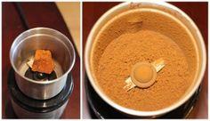 A raw chaga chunk ground into powder using my nut & spice grinder. #chagatea