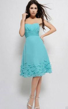 Sweetheart Knee-length Empire Zipper Chiffon Bridesmaid Dresses