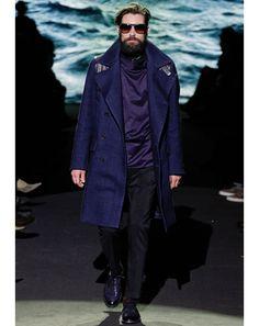 Purple coat, fall 2012 Men's Fashion Week: Fashion Shows: GQ