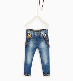 Image 1 de Jean en matières assorties camouflage de Zara