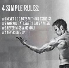 Exercise. Motivation. Never give up.