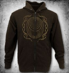 Rotten Sound,Cycles zip hoody,brown