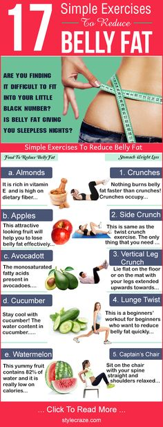 Including exercises to reduce belly fat for women helps the best. Here is how to lose stomach fat with these simple exercises. #WeightLoss