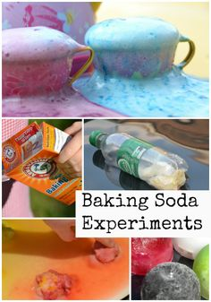 Lots of fab baking soda experiments, includes baking soda powered boat, monster tea party and lots more.