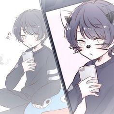 Lyna tu me prend en photo la ? Dibujos Anime Chibi, Chibi Anime, Anime Kawaii, Manga Anime, Manga Art, Anime Art, Anime Sexy, Anime Guys, Cute Characters