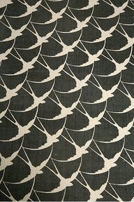 bird scallop printed rug
