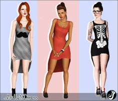 really really cute dresses for sims~ <3