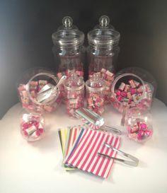 x10 Sweet Jars Tongs Scoops & Bags Candy Buffet Bar Kit Wedding Large Jar Kit