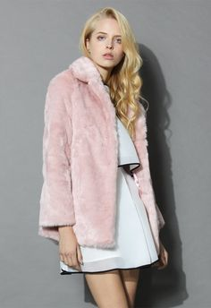 Pink Marshmallow Faux Fur Coat - New Arrivals - Retro, Indie and Unique Fashion