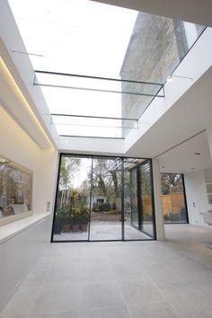 Skylight with Glass Beams