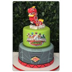 Power Rangers Dino Charges Party.  Cake, bolo