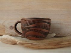 warmceramics hand carved teacups I've ben meaning to do a series with different clay bodies for a while...