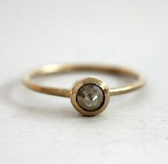 icy yellow rose cut diamond engagement ring 18k little yellow bird