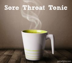 Sore Throat Tonic | What with the polar vortex freeze that trampled through the country, my family, like everyone else, suffered through a s...