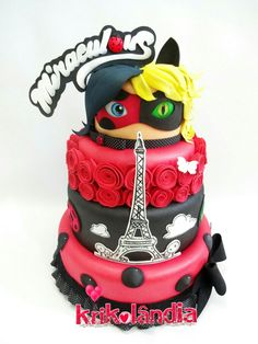 best ideas about Bolo Miraculous Bolo Lady Bug, Cumpleaños Lady Bug, Owl Cupcakes, Cupcake Cakes, Fruit Cakes, Bolo Miraculous Ladybug, Fondant Cake Designs, Ladybug Cakes, Chocolate Art