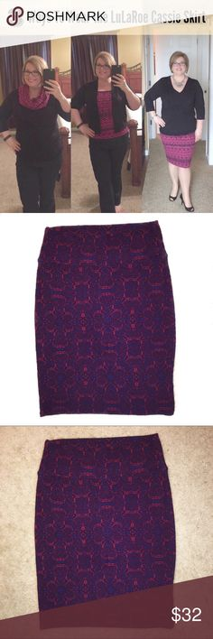 💝 NWOT Lularoe Cassie Skirt Lularoe Cassie skirt is very versatile and can be worn in a variety of ways. *Note the skirt in the cover photo is NOT for sale. It's simply to show the creative ways in which the Cassie skirt can be styled. LuLaRoe Skirts Midi
