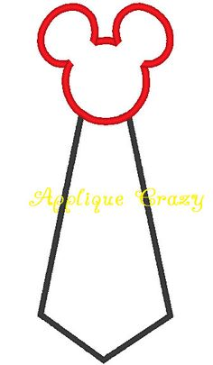 Mouse Tie Applique design. $4.00, via Etsy.