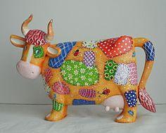 Корова. Деревянная скульптура. Расписана акрилом. Размер: 15 Х 23 см  Автор Виталий Корякин.  Ярмарка Мастеров.
