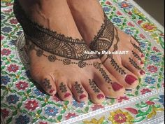 YouTube #pretty #feet #henna #mehndi #design #tutorial