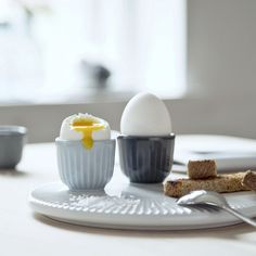 Kähler - Hammershøj - Æggebæger 2 stk. - Himmelblå - køkken - service - køkkentilbehør - køkkenudstyr - bordopdækning - brunch - små skåle