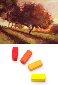 Excellent advice! Warm and cool analogous color schemes by pastel artist Alain Picard, at ArtistsNetwork.com. #pastel #art #tips