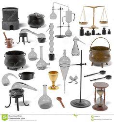 Alchemy Tools Set Stock Illustration - Image: 70696073